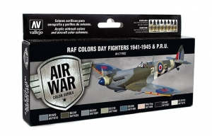 Vallejo 71162 Zestaw Air War 8 farb - WWII RAF Day Fighters