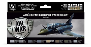 Vallejo 71627 Zestaw Air War 8 farb - Armée De L'air Colors Post WWII to Present