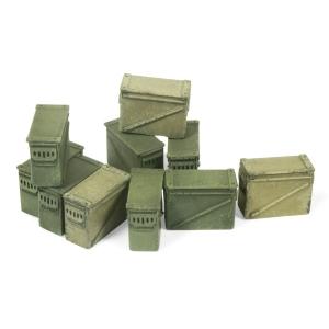 Vallejo SC221 Diorama Accessories Duże pojemniki amunicyjne 12,7 mm. 1:35