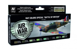 Vallejo 71144 Zestaw Air War 8 farb - RAF Colors Battle of Britain
