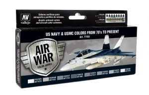 Vallejo 71155 Zestaw Air War 8 farb - US NAVY & USMC Colors from 70's to present