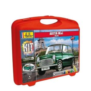 Heller 60153 Constructor Kit - Austin Mini + podstawka - 1:43