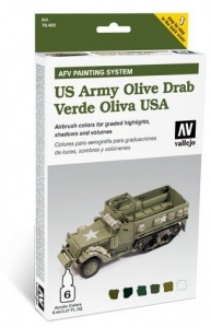 Vallejo 78402 AFV Painting System: US Army Olive Drab