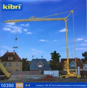 Kibri 10390 H0 Żuraw dolnoobrotowy Liebherr SK 20