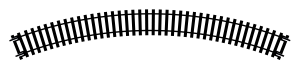 Hornby R605 Tor łukowy R1, R371 mm, 45st.