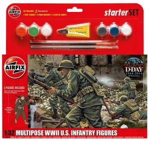 Airfix A55212 Starter Set - WWII US Infantry Multipose 1:32