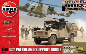 Airfix A50123 Gift Set - British Army Patrol and Support Group 1:48