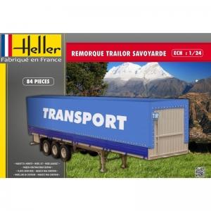 Heller 80771 Naczepa trzyosiowa z plandeką - 1:24