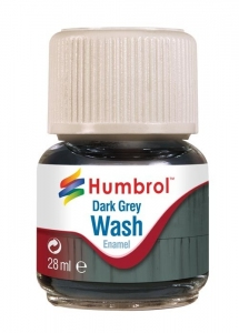 Humbrol AV0204 Enamel Wash Dark Grey 28ml