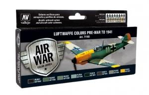 Vallejo 71165 Zestaw Air War 8 farb - Luftwaffe Pre-War to 1941