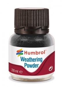 Humbrol AV0001 Pigment Weathering Powder 28 ml - Black AV0001