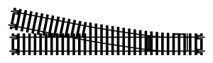 Hornby R8078 Zwrotnica prawa długa 245 mm, R852 mm, 11,25st.
