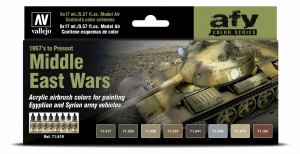 Vallejo 71619 Zestaw Model Air 8 farb - Middle East Wars (1967 to present)
