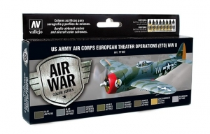 Vallejo 71182 Zestaw Air War 8 farb - US Army Air Corps Colors (ETO) WWII