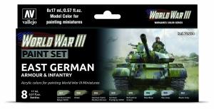 Vallejo 70224 Zestaw World War III 6 farb - East German Armour & Infantry