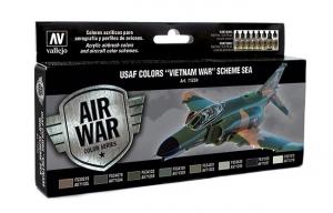 Vallejo 71204 Zestaw Air War 8 farb - USAF Colors Vietnam War Scheme South East Asia