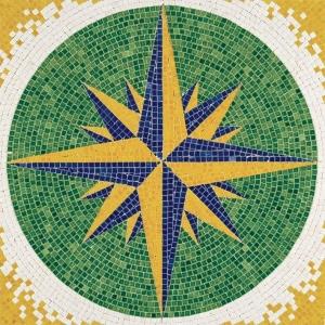Aedes Ars 5509 Mozaika 300x300 mm - Róża wiatrów