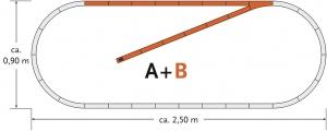 Roco 61101 Zestaw torów B geoLine