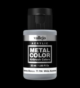 Vallejo 77706 Metal Color 77706 White Aluminium