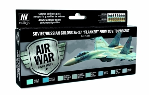 Vallejo 71602 Zestaw Air War 8 farb - Soviet / Russian colors Su-27 Flanker from 80 to present