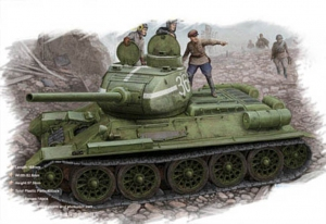 Hobby Boss 84807 Czołg T-34/85 (model 1944 flattened turret) Tank - 1:48