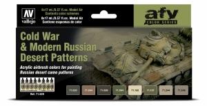 Vallejo 71620 Zestaw Model Air 8 farb - Cold War & Modern Russian Desert Patterns
