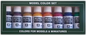Vallejo 70136 Zestaw Model Color 8 farb - Transparent Colors