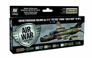 Vallejo 71604 Zestaw Air War 8 farb - Soviet / Russian colors Su-7/17 Fitter from Cold War to 80