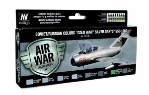 Zestaw Air War 8 farb - Soviet / Russian colors Cold War Silver Darts 1950-1980