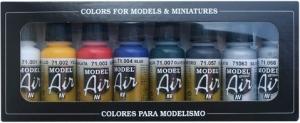 Vallejo 71174 Zestaw Model Air 8 farb - Basics Colors