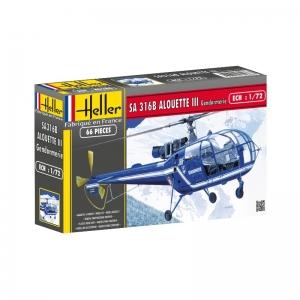 Heller 80286 SA 316 Alouette III Gendarmerie - 1:72