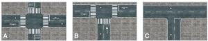 Heki 12002 Citiline - Ulica - skrzyżowania z chodnikami