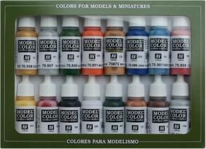 Vallejo 70101 Zestaw Model Color 16 farb - Folkstone Basics