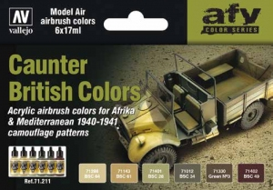 Vallejo 71211 Zestaw Model Air 6 farb - Caunter British Colors 1940-1941