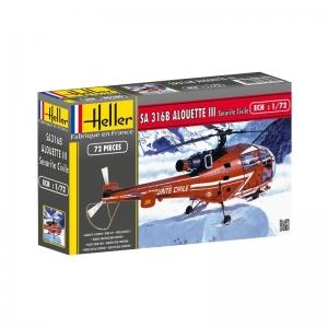 Heller 80289 SA 316 Alouette III Securite Civile - 1:72