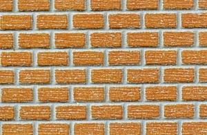 Heki 72242 Mur z cegły klinkierowej H0 40x20 cm