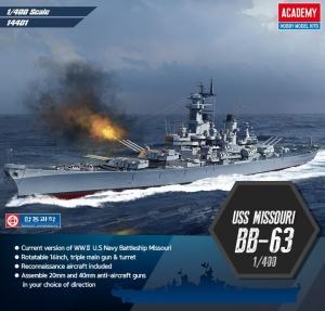 Academy 14401 BB-63 USS Missouri 1:400