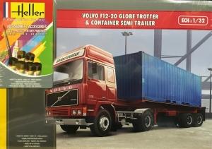 Heller 57702 Starter Set - Volvo F12-20 GlobeTrotter z naczepą kontenerową - 1:32