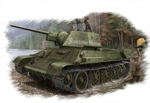 Hobby Boss 84808 Russian T-34/76 (model 1943 Factory No.112) Tank - 1:48