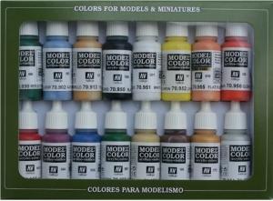 Vallejo 70140 Zestaw Model Color 16 farb - Basic Colors  USA