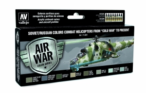 Zestaw Air War 8 farb - Soviet / Russian colors Combat Helicopters post WWII to present