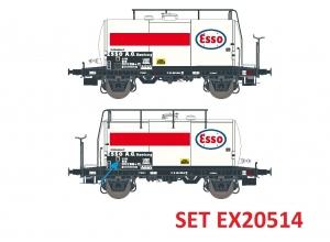 Exact-Train EX20514 Zestaw 2 cystern 24m3 Uerdinger, Esso, DB, Ep. IV